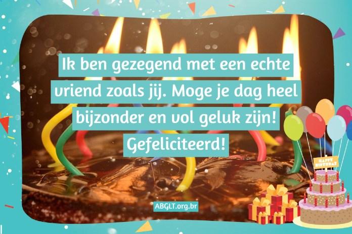 Verjaardagsbericht aan vriend