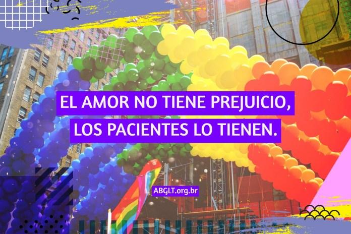 EL AMOR NO TIENE PREJUICIO, LOS PACIENTES LO TIENEN.