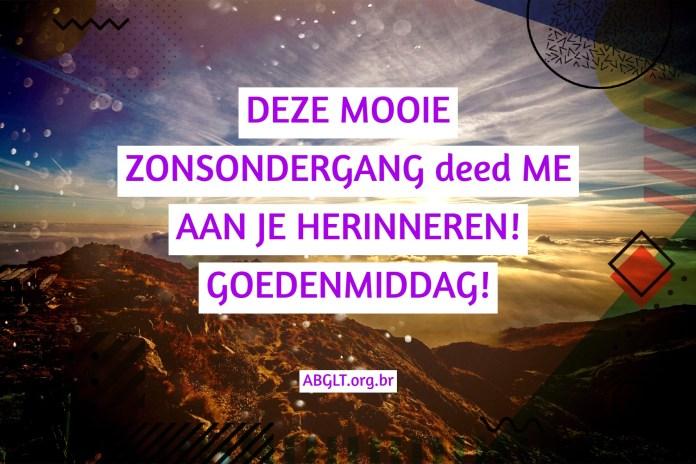 DEZE MOOIE ZONSONDERGANG deed ME AAN JE HERINNEREN! GOEDENMIDDAG!