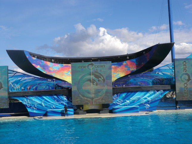 The Shamu stadium that hosts the famous Shamu  Orca show