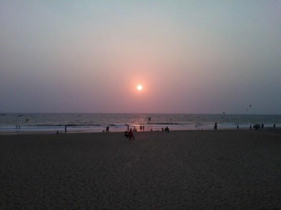Sunset at the Calangute beach!