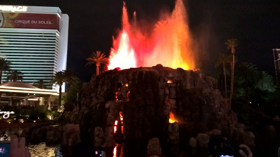 Volcano Show at the Mirage