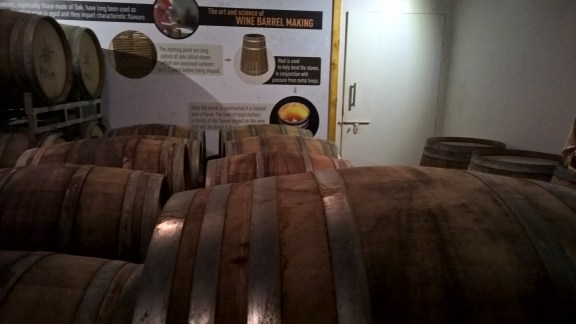 Oak wood Barrels - where the wine is left to age