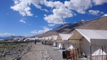 Tents at Pangong