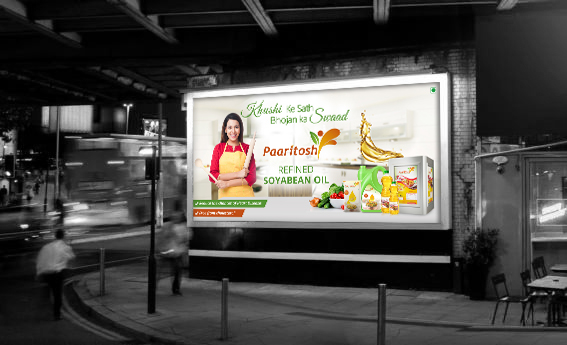 Paaritosh Banner | Refined and Mustar Oil For Billboard