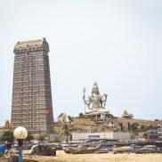 500px Photo ID: 149409349 - Huge Shiva Statue in front of a huge Gopuram in Murudeshwar Shiv Temple, Karnataka