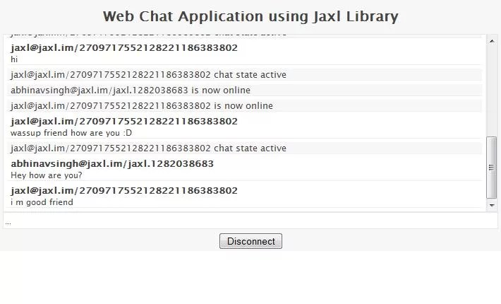 chat web application in php