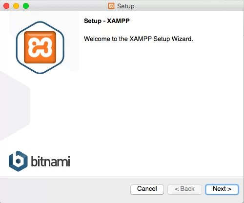 XAMPP Installation Welcome Screen