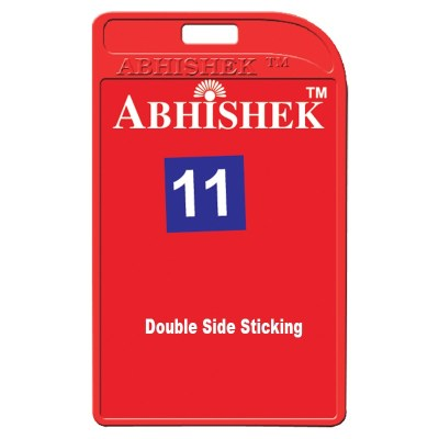 Two Side Pasting Holder of size 54x86 mm in Red Colour and Vertical OrientationIt is ideal for business, schools and organization for all there ID card needs. Not only it protects the keep the id cards safe but also provides high branding value and perso