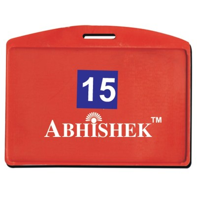 Single Side Pasting Holder of size 54x86 mm in Red Colour and Horizontal OrientationIt is ideal for business, schools and organization for all there ID card needs. Not only it protects the keep the id cards safe but also provides high branding value and