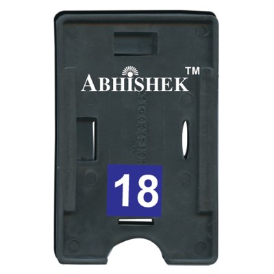 Double Hole Insert Holder of size 54x86 mm in Black Colour and Both OrientationIt is ideal for business, schools and organization for all there ID card needs. Not only it protects the keep the id cards safe but also provides high branding value and perso