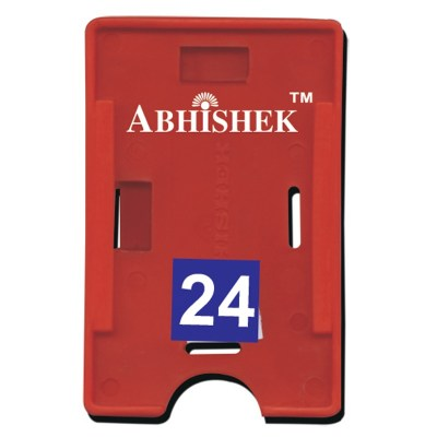 Double Hole Insert Holder of size 54x86 mm in Red Colour and Both OrientationIt is ideal for business, schools and organization for all there ID card needs. Not only it protects the keep the id cards safe but also provides high branding value and persona