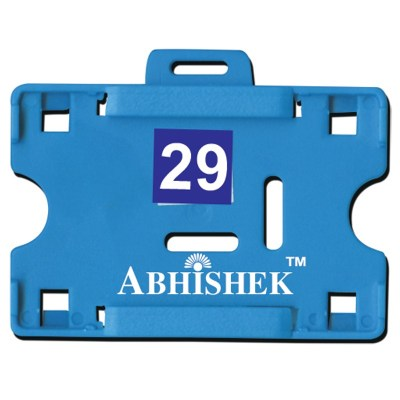 Two Side Insert Holder of size 54x86 mm in Light Blue Colour and Horizontal OrientationIt is ideal for business, schools and organization for all there ID card needs. Not only it protects the keep the id cards safe but also provides high branding value a