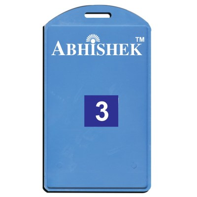 Single Side Pasting Holder of size 54x86 mm in Light Blue Colour and Vertical OrientationIt is ideal for business, schools and organization for all there ID card needs. Not only it protects the keep the id cards safe but also provides high branding value