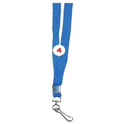 Sky Blue Colour Sleeve Tags with Hook Attachement type. 16 Inches in Length and 12 mm wide. Printable with multiple colours with custom logo and names