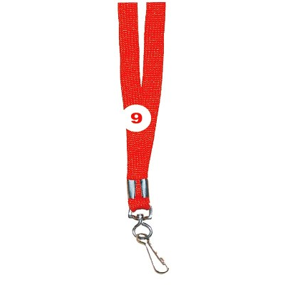 Fluorescent Red Colour Sleeve Tags with Hook Attachement type. 16 Inches in Length and 12 mm wide. Printable with multiple colours with custom logo and names