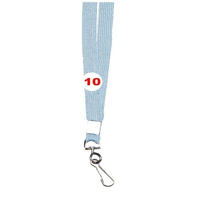 Light Grey Colour Sleeve Tags with Hook Attachement type. 16 Inches in Length and 12 mm wide. Printable with multiple colours with custom logo and names
