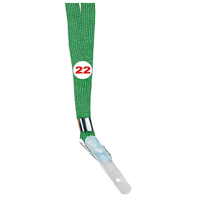 Parrot Green Colour Sleeve Tags with Clip Attachement type. 16 Inches in Length and 12 mm wide. Printable with multiple colours with custom logo and names