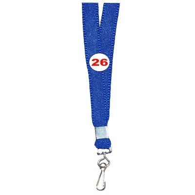 Light Blue Colour Flat Tags with Hook Attachement type. 16 Inches in Length and 14 mm wide. Printable with multiple colours with custom logo and names