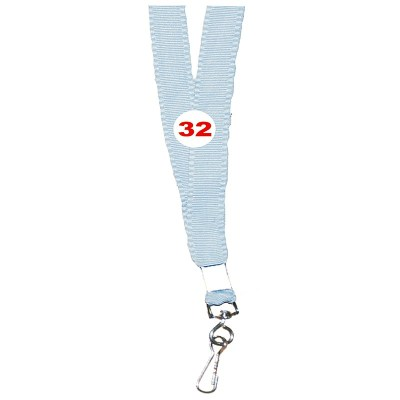 Light Grey Colour Flat Tags with Hook Attachement type. 16 Inches in Length and 14 mm wide. Printable with multiple colours with custom logo and names