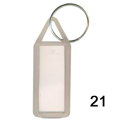 Translucent key chain of size 17x41 mm in Rectangle  shape designed for id card holder, company event or school custom logo. Fully customizable and personalized with thousands of designs and prints  You may also refer keychains as ket tags, key rings, id
