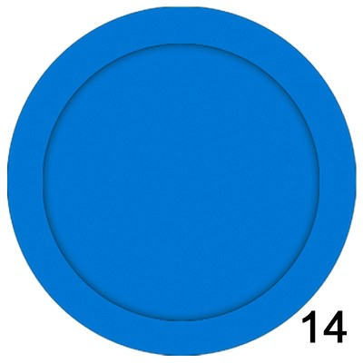 Blue id card badge of size 35x35 mm in Round  shape designed to hold custom logo, school logos and doom stickers