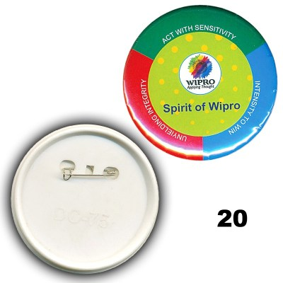Multi Colour id card badge of size 44x44 mm in Round  shape designed to hold custom logo, school logos and doom stickers