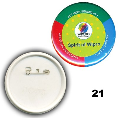 Multi Colour id card badge of size 32x32 mm in Round  shape designed to hold custom logo, school logos and doom stickers