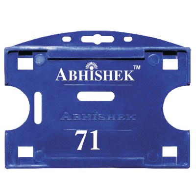 Double Hole Insert Holder of size 54x86 mm in Dark Blue Colour and Horizontal OrientationIt is ideal for business, schools and organization for all there ID card needs. Not only it protects the keep the id cards safe but also provides high branding value