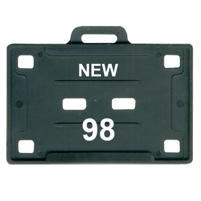 Insert Holder of size 54x86 mm in Black Colour and Horizontal OrientationIt is ideal for business, schools and organization for all there ID card needs. Not only it protects the keep the id cards safe but also provides high branding value and personaliza