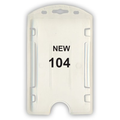 Insert Holder of size 54x86 mm in White Colour and Vertical OrientationIt is ideal for business, schools and organization for all there ID card needs. Not only it protects the keep the id cards safe but also provides high branding value and personalizati
