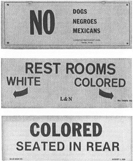 Image result for segregated restaurant pictures