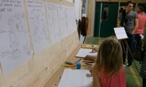 tekenfestival big draw cartoon animatie cartoonist houtbewerking meubelmaker ontwerp