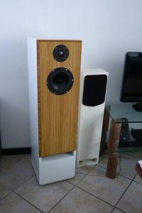 speaker speakerfront zelf gemaakt bamboo bamboe side pressed caramel