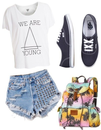 Chic-Outfit-Idea-with-High-Waisted-Shorts