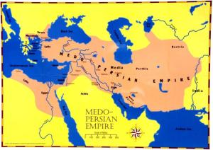 Medo-Persian empire map
