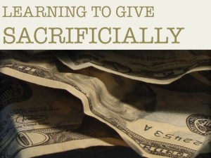 Learning to Give Sacrificially