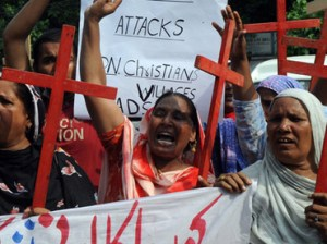 Pakistani Christians Protesting