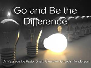Go and Be the Difference