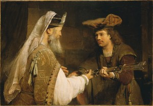 Ahimelech giving sword to David - Aert de Gelder