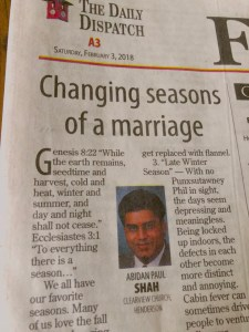Changing Seasons of a Marriage