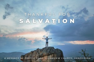 Thankful for Salvation