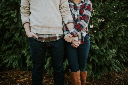 Girl and guy standing picture