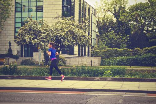 Girl running picture.