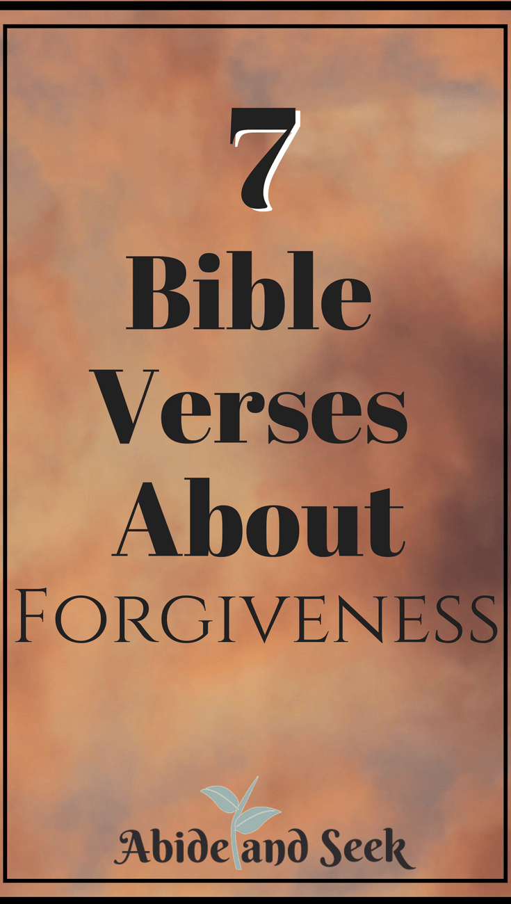 bible verses about forgiveness abide and seek