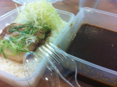 昼食のゴールドカレー(チャーシュー)