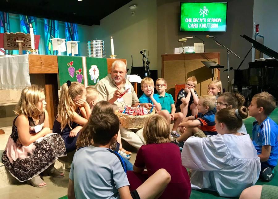 Children's Sermon led by Gary at Sunday Worship   Abiding Grace Lutheran Church