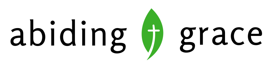 abiding grace logo with green leaf