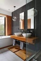 Bad Grau Holz Modern Bad Badezimmer Badezimmerideen Und ...