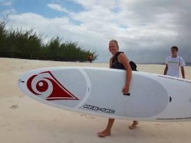 Paddleboarding at Mbudya Island